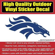 Denver Broncos Solid Blue Design Car Window Vinyl Decal Sticker Colorado Sticker