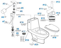 toilet repair parts for roma series toilets