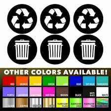 Recycle Sticker Trash Bin Label Decal For Home Kitchen Office Garbage Waste Cans For Sale Online
