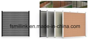 China Wpc Imitative Wood Security Outdoor Garden Fence Trellis Fencing Panel China Solid Fence Garden Fence