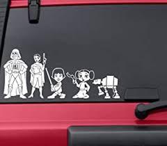 Amazon Com Hvd Star Wars Stick Figure Family Car Window Vinyl Decals Automotive
