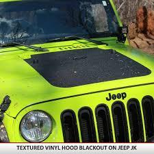 Jeep Wrangler Jk Blackout Hood 2007 2017 Alphavinyl