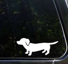 The Decal Store Com By Yadda Yadda Design Co Car Dachshund Wiener Dog Car Vinyl Decal Sticker 6 W X 2 5 H