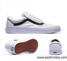 vans true white leather mens footwear