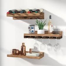 sterns wall mounted wine glass rack