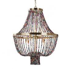 colored beads pendant lighting
