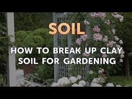 how to break up clay soil for gardening