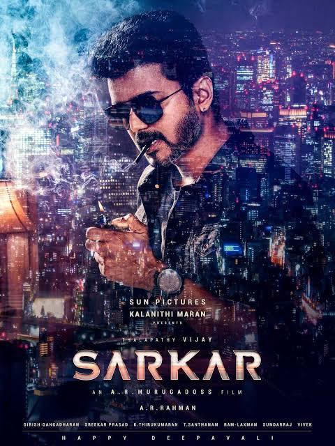 SARKAR (2018) Movie HDRip 720p [Telugu (HQ Line Audio) + Tamil] 1.4GB 700MB  ESub