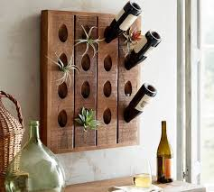 french wine bottle wall rack pottery barn