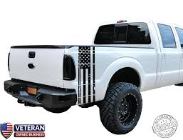 Universal Truck Distressed American Flag Bed Stripe Vinyl Decal Roe Graphics And Apparel
