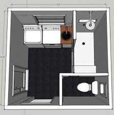 small bathroom floor plans with laundry