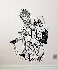 Harley Quinn And Joker Wall Decal Superhero Vinyl