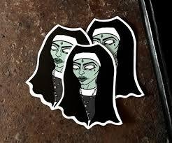 Vinyl Sticker Zombie Vinyl Sticker Zombie Nun Sticker Die Etsy
