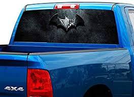 Amazon Com P505 Batman Tint Rear Window Decal Wrap Graphic Perforated See Through Universal Size 65 X 17 Fits Pickup Trucks F150 F250 Silverado Sierra Ram Tundra Ranger Colorado Tacoma 1500 2500 Automotive