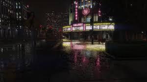 4k وسط المدينة المسرح تحت المطر خلفية حية مجانا 1 Desktophut