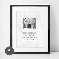 personalised best friend gift photo print friendship quote