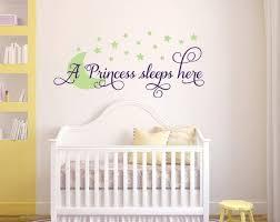 A Princess Sleeps Here Custom Color Wall Decal Wall Sticker Outlet Wallstickerou Nursery Wall Decals Girl Childrens Wall Decals Nursery Wall Decals