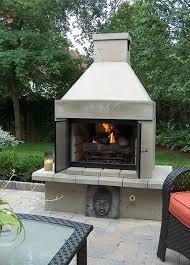 open face outdoor gas fireplace