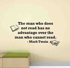 Mark Twain Quotes Wall Decal Library Poster Education Sign Etsy