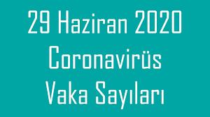 29 HAZİRAN   Korona virüs vaka sayıları tablosu