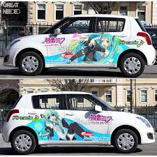 Cartoon Anime Acgn Car Sticker For Hatsune Miku Paint Car Racing Ody