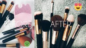 how to clean makeup brushes sponges