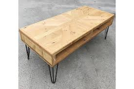 coffee table industrial hairpin legs
