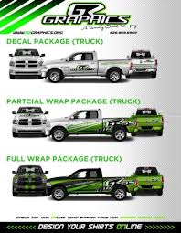 3 Up Decal Packs Prices Truck