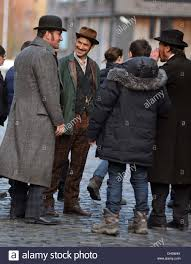 Matthew McFadyen Jermome Flynn and Adam Rothenberg Filming of ...