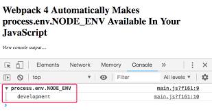 process env node env
