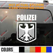 Polizei Deutschland German Police Eagle Reichsadler Germany Car Truck Decal Bumper Sticker Windows Vinyl Die Cut Bumper Sticker Truck Decalssticker Vinyl Aliexpress