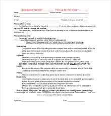 consignment contract sle