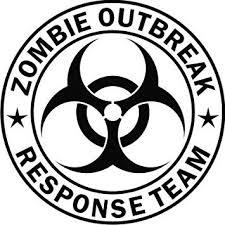 Amazon Com Www Tdcdecals Com Zombie Outbreak Response Team Black Die Cut Vinyl Decal Sticker Automotive