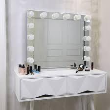 large hollywood makeup mirror with 14