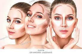 contouring face make up sle