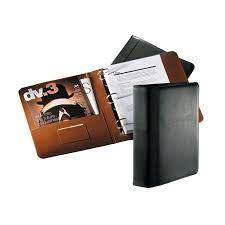 a5 faux leather bound 3 ring binder