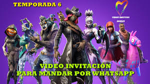 Fortnite Temporada 6 Video Invitacion Para Cumpleanos 399 00
