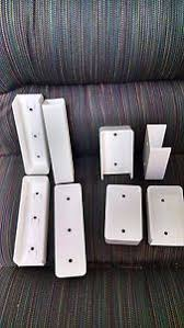 Vinyl Fence Rail Mounting Bracket Wall Mount 2 X 3 1 2 Pvc 4 Pack Usa Ebay