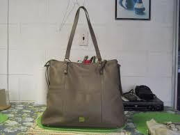 kooba leather hobo handbag taupe for