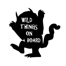 Where The Wild Things Are Decal Wild Things On Board 5 X6 White Cut Vinyl