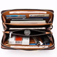 leather purse men s clutch wallets