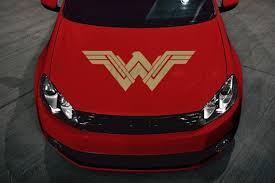 Large Wonder Woman Car Hood Vinyl Decal These Decals Are Made For Car Hoods But Can Also Be Applied To Washer Wonder Woman Vinyl Car Stickers Car Decals Vinyl
