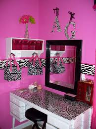 Endearing Red Black And White Or Pink Zebra Room Bedroom Best Ideas With Mirror On Wall Also Black Stool Of A Zebra Room Pink Zebra Rooms Zebra Print Bedroom