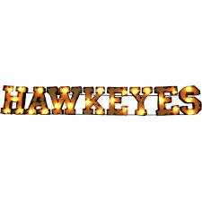 iowa hawkeyes metal décor lighted