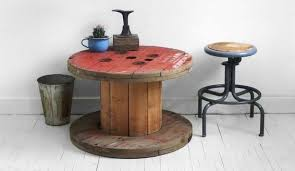 d i y cool cable spool coffee table