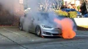 put out fires in tesla model s