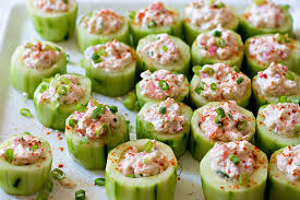 Cucumber Cups Stuffed with Spicy Crab ...