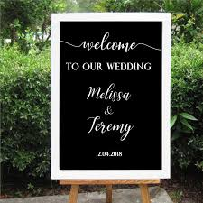 2020 Wedding Welcome Sign Decal Welcome To Our Wedding Sign Personalized Wedding Stickers Vinyl Removable Waterproof Sticker From Zehanhome 11 58 Dhgate Com