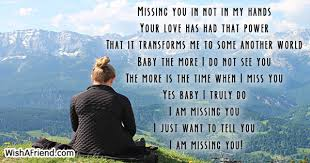missing you in not in my thinking of