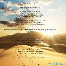 hijrah a journey o quotes writings by adebijoy